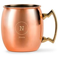 Circle Monogram Copper Moscow Mule Mug