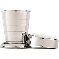 Collapsible Silver Shot Glass with Lid