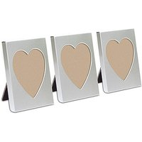 Small Silver Heart Photo Frame Favour