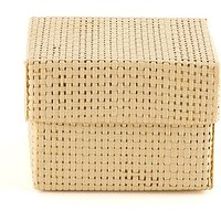 Natural Woven Favour Boxes With Lids - Natural Colour