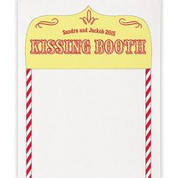 Kissing Booth Personalised Photo Backdrop