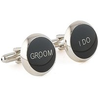 Wedding Novelty Cufflinks - One Pair Printed Set - Groomsman, Here for You too