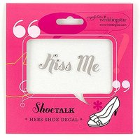 Kiss Me Shoe Talk Stick on Decals for Shoes