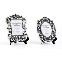 Baroque Paper Frames with Table Easels - Small - Black And White