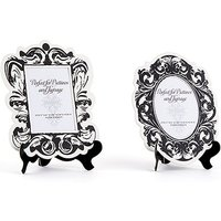 Baroque Paper Frames with Table Easel - Large - Black And White