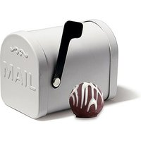 Small White Tin Mailbox Favour Container
