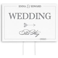 Classic Script Directional Wedding Sign
