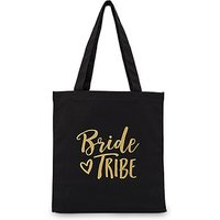 Bride Tribe Black Canvas Tote Bag - Tote Bag with Gussets