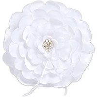Sensational Floral Ring Cushion - White