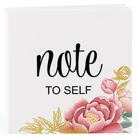 Notepad Favour with Personalised Modern Floral Cover