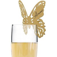 Laser Expressions Butterfly Laser Cut Glass Card Shimmer Paper - White