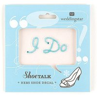 \I Do\ Shoe Talk In Blue Pearls And Crystals