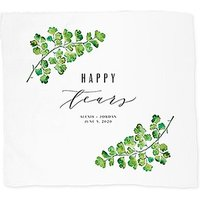 Personalised White Pocket Handkerchief - Happy Tears - Crochet Border