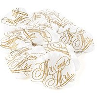 Love Letter Printed Silk Flower Petals - Mr. and Mrs.
