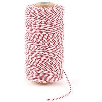 Striped Cotton Bakers Twine - Peach
