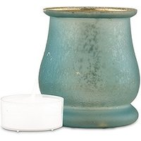 Bell Shaped Glass Tealight Holder - Daiquiri Green