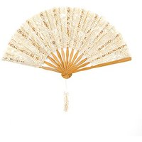 Antique Lace Hand Fan - Ivory