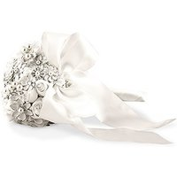 Couture Brooch Bridal Bouquet - White