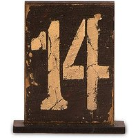 Rustic Self-Standing Table Number And Holders - Numbers 7-12