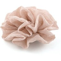 Fabric Ruffle Flower - Large - Putty Grey