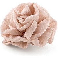 Fabric Ruffle Flower - Medium - Putty Grey