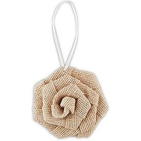 Rolled Burlap Flowers - Small - Ivory