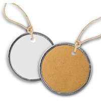 Vintage Round Metal Rim Favour Tags With Jute Ties