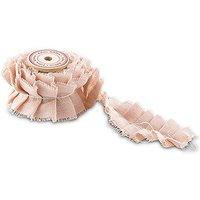 Ruffled Fabric Ribbon Trim - Pastel Pink