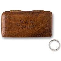 Natural Charm Personalised Pocket Size Wooden Wedding Ring Box - Garland Under
