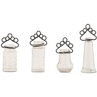 Vintage Inspired Pressed Glass Vases with Table Number Holders
