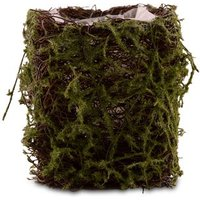 Faux Moss and Wicker Mini Favour Planter with Liner