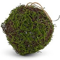 Faux Moss and Wicker Pomander - Small