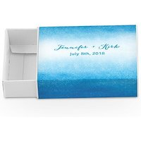 White Drawer-Style Favour Box With Aqueous Wrap
