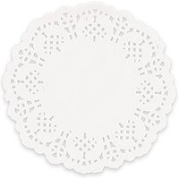 White Lace Paper Doilies - White