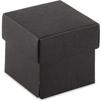 Black Square Favour Box with Lid