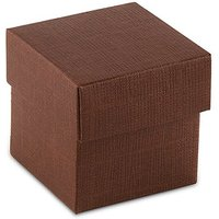 Chocolate Brown Square Favour Box with Lid