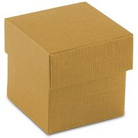 Lustrous Gold Favour Box with Lid (10)