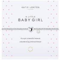 \A Little Baby Girl\ Silver Bracelet with Heart Charm