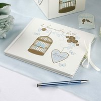 To Have & To Hold Birdcage and Heart Traditional Guest Book