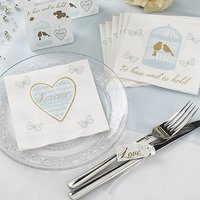 To Have & To Hold Birdcage and Heart Cocktail Napkins