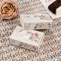 \With Love\ White Doves and Pink Flowers Wedding Cake Boxes