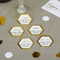 Scripted Marble Drink Tokens - 25 Pack