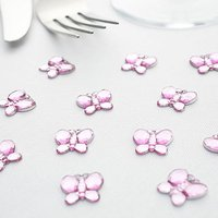 Butterfly Diamante Table Gems Pack - Silver