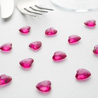 Heart Diamante Table Gems Pack - Caribbean Blue