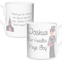Personalised Fabulous Pageboy Mug