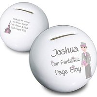 Personalised Fabulous Pageboy Money Box