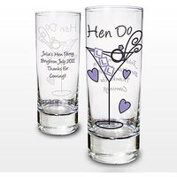 Personalised Hen Shot Glass