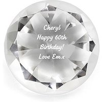 Crystal Diamond Paperweight Personalised