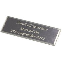 Personalised Plaque Silver