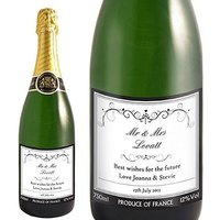 Personalised Ornate Swirl Champagne Bottle
